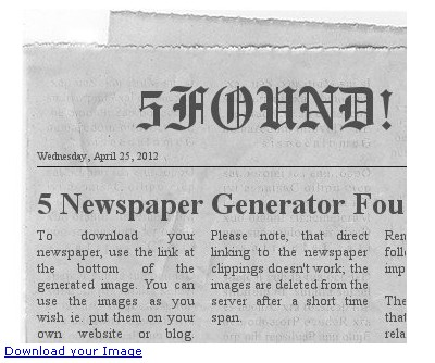 5 Online Newspaper Generators To Create Fake Newspaper 5found